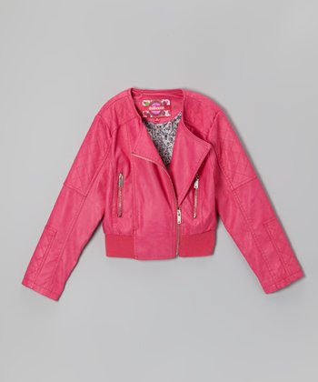 Magenta Asymmetrical Jacket - Infant, Toddler & Girls