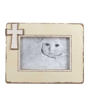 Ivory Cross Picture Frame