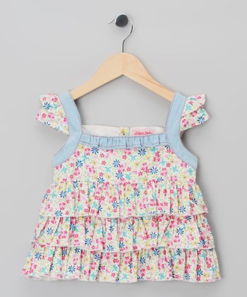 Pink Floral Ruffle Top - Infant, Toddler & Girls