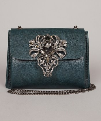 Emerald Embellished Crossbody Bag