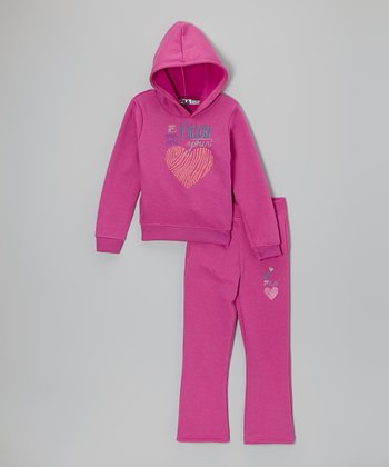 Orchid Blast Logo Hoodie & Pants - Toddler & Girls