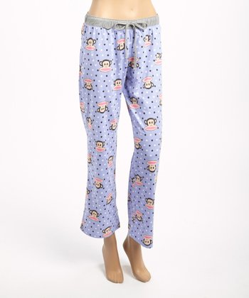 Purple & Gray Julius Pajama Pants - Women