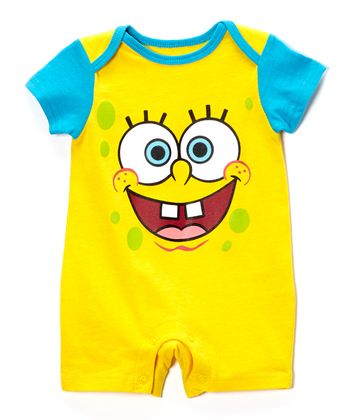 Yellow & Blue SpongeBob Romper - Infant