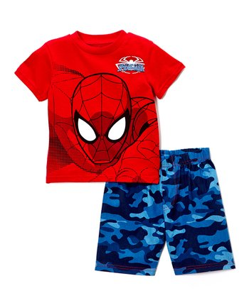 Red Camo Spider-Man Tee & Shorts - Infant