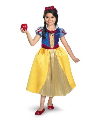 Yellow Snow White Shimmer Deluxe Dress-Up Set - Girls