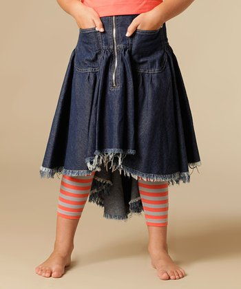 Blue Denim Adele Skirt - Girls