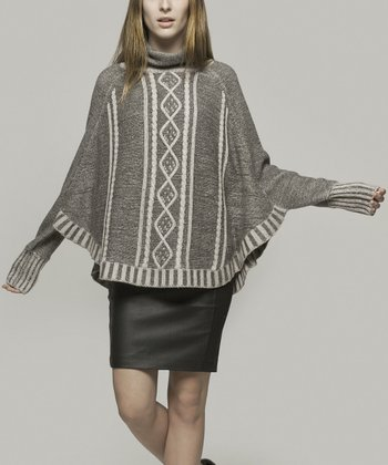 Gray Riley Wool-Blend Cape-Sleeve Top - Women