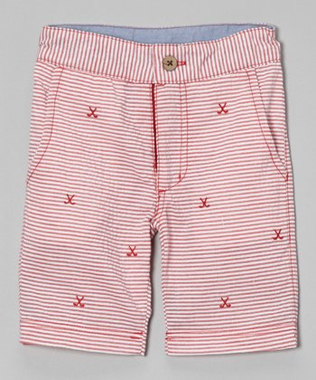 Red Stripe Golf Shorts - Infant, Toddler & Boys