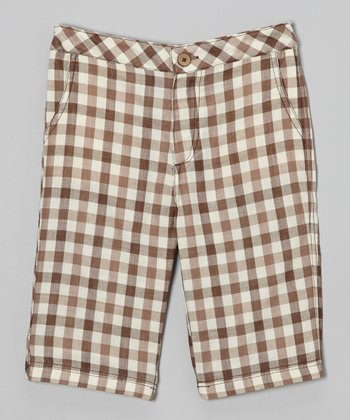 Brown Plaid Shorts - Infant, Toddler & Boys