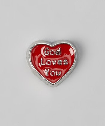 Red 'God Loves You' Charm