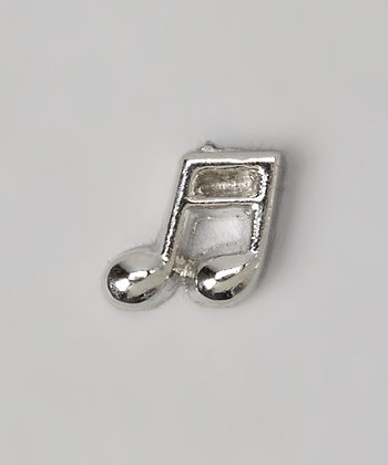 Silver Crystal Music Note Charm
