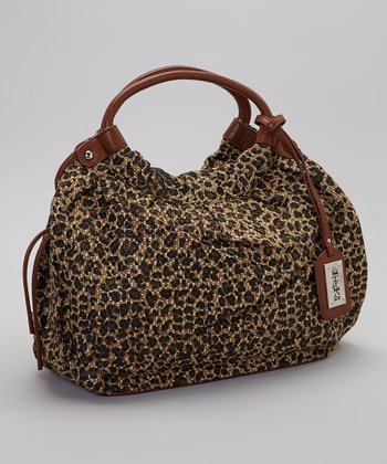 Brown & Black Leopard Tote