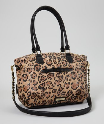 Brown & Black Leopard Sunrize Tote