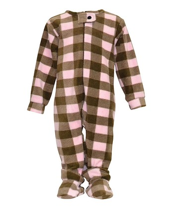 Pink Plaid Footie - Infant, Toddler & Girls