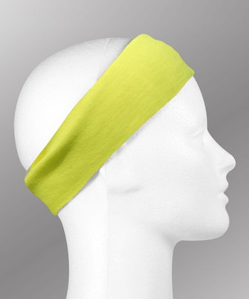 Gone for a Run Safety Yellow Running Headband