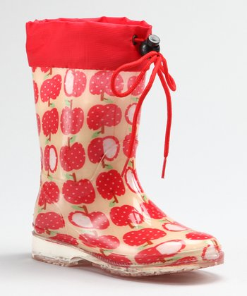Red Apple Rain Boot - Kids