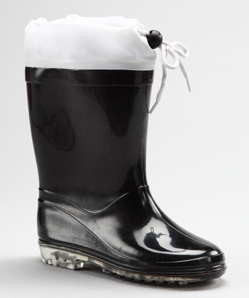 Black & White Cookie Rain Boot - Kids