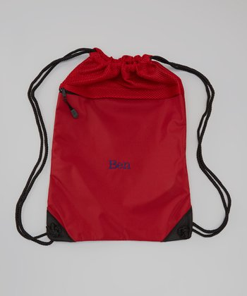 Chilli Red Personalized Cinch Backpack