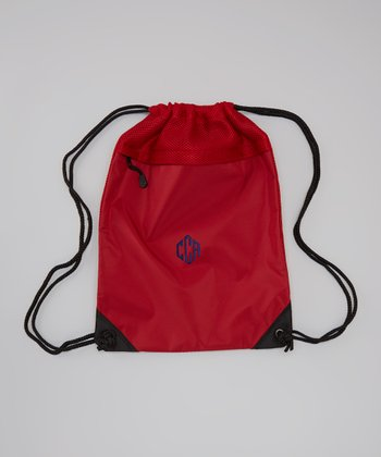 Chilli Red Monogram Cinch Backpack