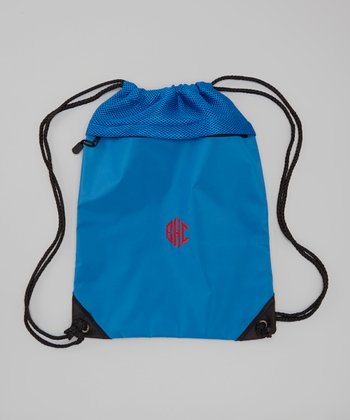 Snorkel Blue Monogram Cinch Backpack