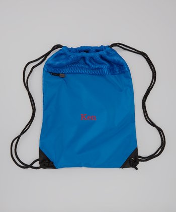 Snorkel Blue Personalized Cinch Backpack