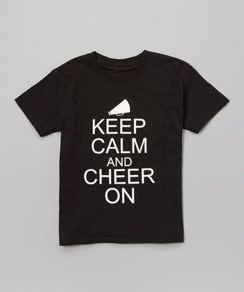 Black 'Keep Calm and Cheer On' Tee - Girls & Women