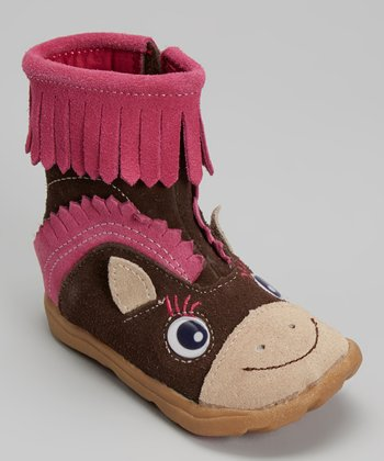 Zooligans Earth & Pink Pony Boot