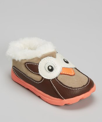 Zooligans Chocolate & Taupe Owl Clog