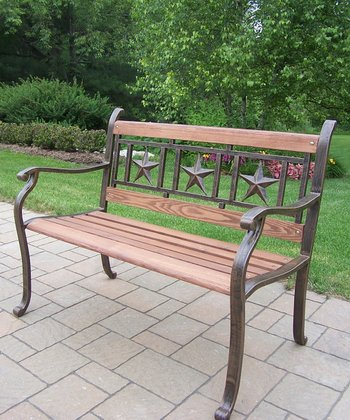 Bronze Triple Star Outdoor Bench