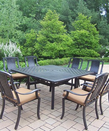 Vanguard Nine-Piece Outdoor Dining Set