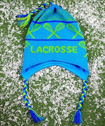 ChalkTalkSPORTS Blue & Green 'Lacrosse' Earflap Beanie