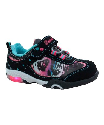 Black & Pink Light-Up Sneaker