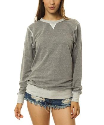 Heather Gray Crewneck Sweatshirt - Women