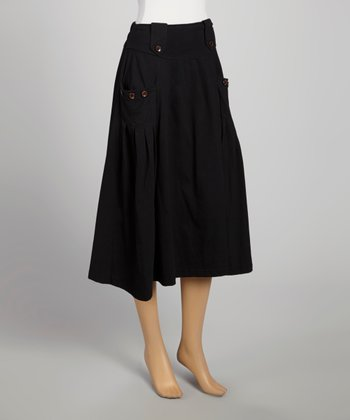 Black Pocket Theresa Skirt