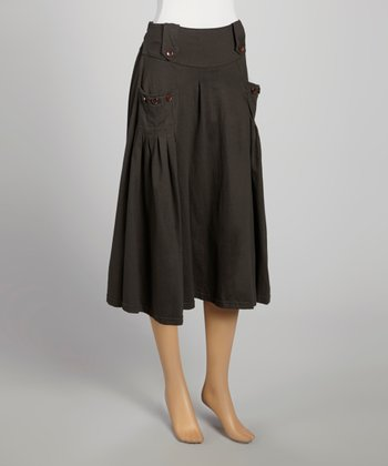 Gray Pocket Theresa Skirt
