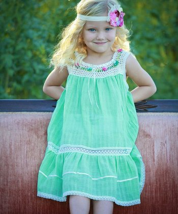 Mint Lucila Yoke Dress - Infant, Toddler & Girls