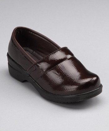 Brown Patent Clog - Kids