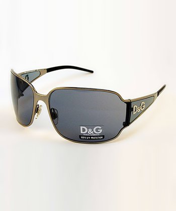 Gunmetal Tapered Sunglasses