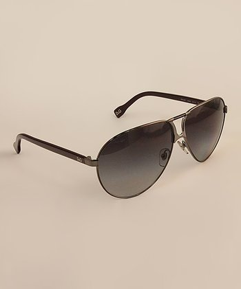 Gunmetal Pilot Sunglasses