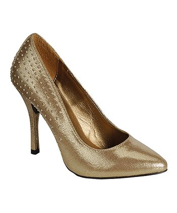 Gold Studded Pump