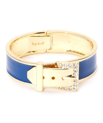 Gold & Navy Ava Bangle
