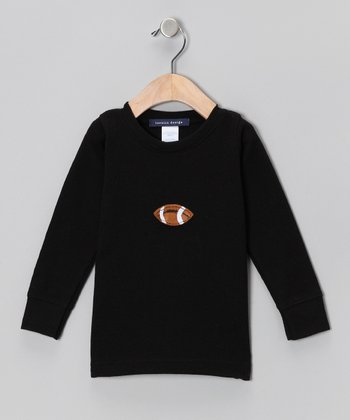 Black Football Thermal - Toddler & Boys