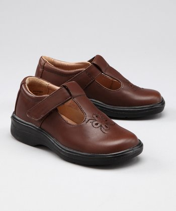 Brown Personality T-Strap Shoe