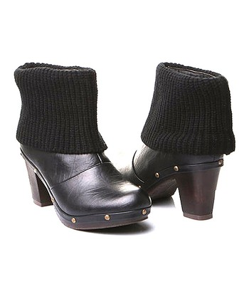 Black Luce Cuffed Ankle Boot