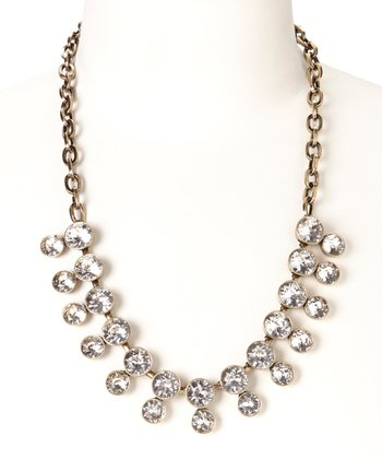 White Round Crystal Necklace