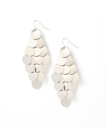 Silver Chandelier Disc Earring
