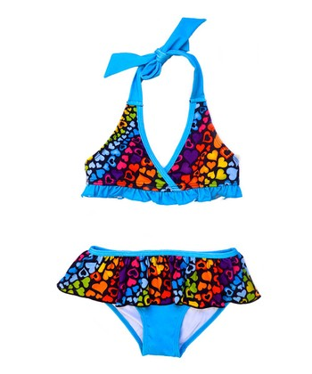 Black & Blue Hearts Bikini - Infant & Toddler