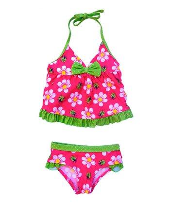Fuchsia & Green Flower Tankini - Infant & Toddler