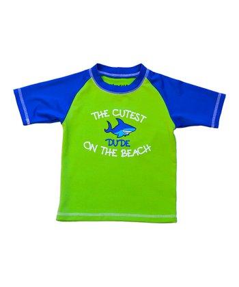 Lime & Blue 'Cutest Dude' Rashguard - Infant