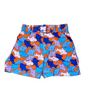Orange Sharks Swim Trunks - Infant & Toddler